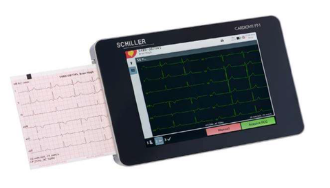 Schiller CARDIOVIT FT-1 Touch Screen EKG with ETM interpretation Software