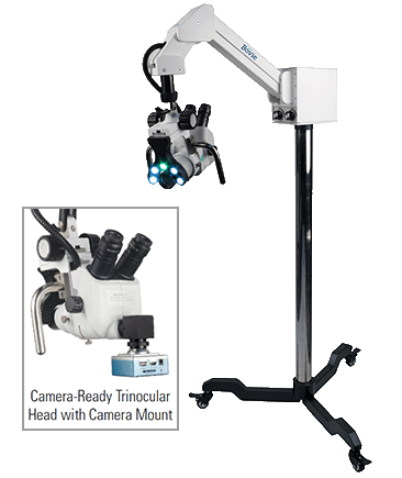 Bovie Colpo-master™ I Swing Arm Colposcope 110v 45° Camera Ready Trinocular Zoom Head, 5 Leg Base (CS-105T-LED)