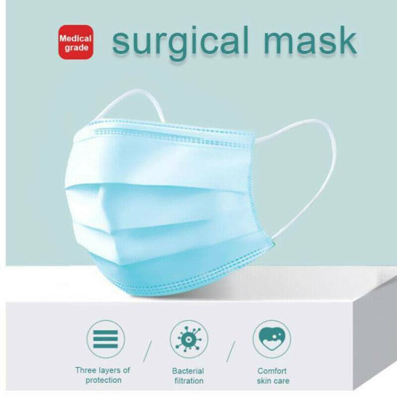 Surgical Masks 3-Ply - Box of 50 Masks