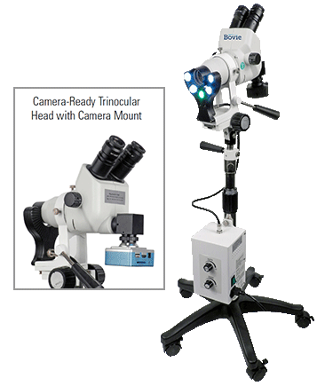 Bovie Colpo-master Ii Colposcope Model CS-205 110v 45° Camera Ready Trinocular Zoom Head, 3 Leg Base (CS-205T-LED)