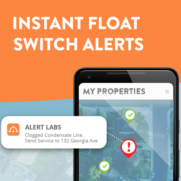 New Cellular A/C Float Switch Alerts Prevent Water Damage