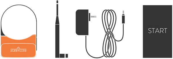 components of flowie sensor, including antenna and power cord