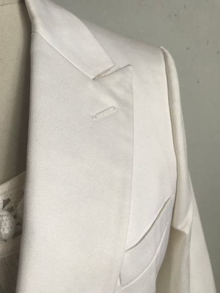 Dior blazer in white cotton twill