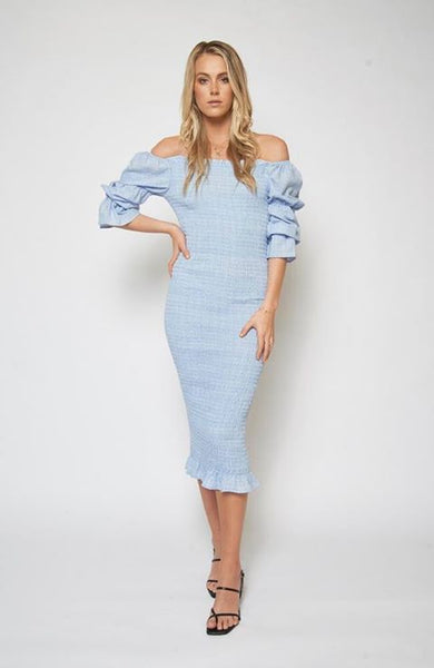 Vanessa Midi Dress - Blue