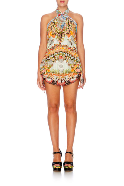 CAMILLA TIE PLAYSUIT - SLICE OF PARADISE