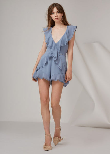 LOVERS HOLIDAY PLAYSUIT steel
