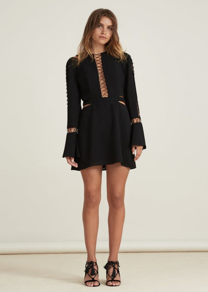 BORDERLINES DRESS black