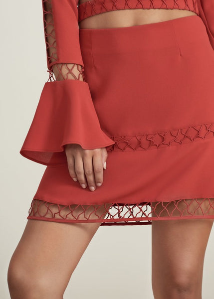 BORDERLINES SKIRT flame