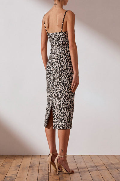 ZIGGY FITTED MIDI DRESS