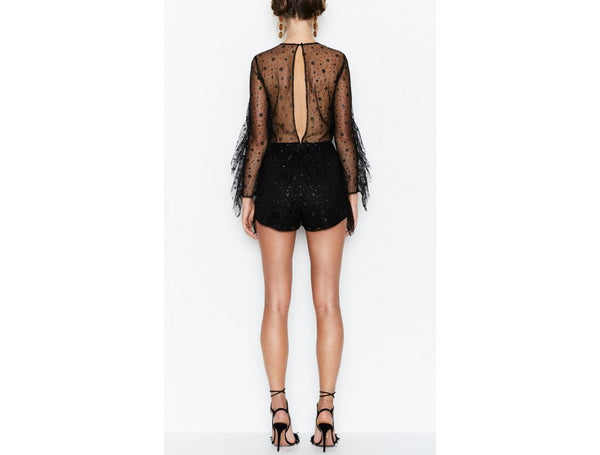 Shooting Stars Playsuit Black