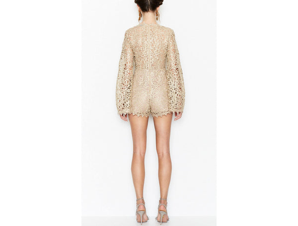 Gold Digger Playsuit - Gold