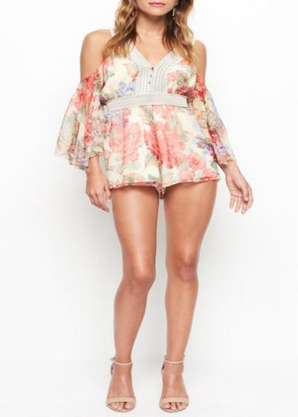 LITTLE DARLIN' PLAYSUIT MORNING FLORAL