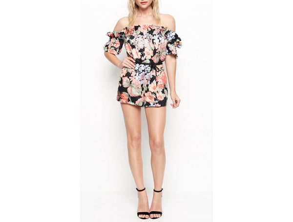 WHOLE LOTTA LOVE PLAYSUIT EVENING FLORAL