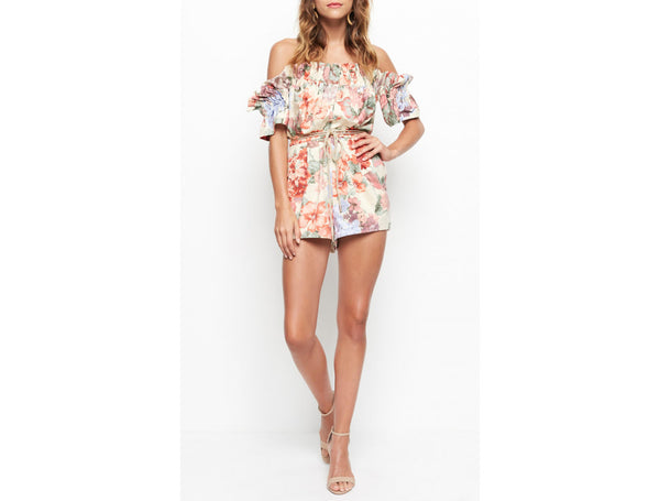WHOLE LOTTA LOVE PLAYSUIT MORNING FLORAL