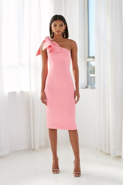 LANI TIE SHOULDER MIDI DRESS