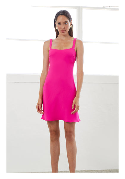 NEON BIAS MINI DRESS