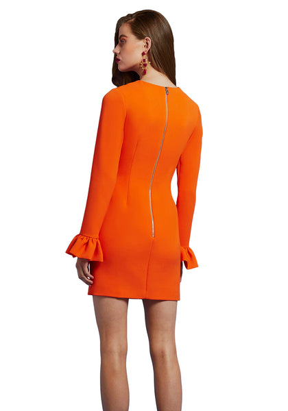 OJ LONG-SLEEVE MINI DRESS