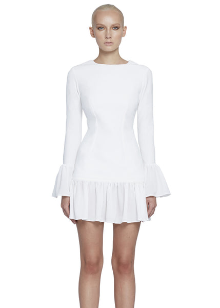 THE ZOE FRILL MINI DRESS