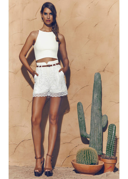 Create Your Reality Lace Shorts