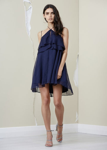 Mantle Dress- Navy