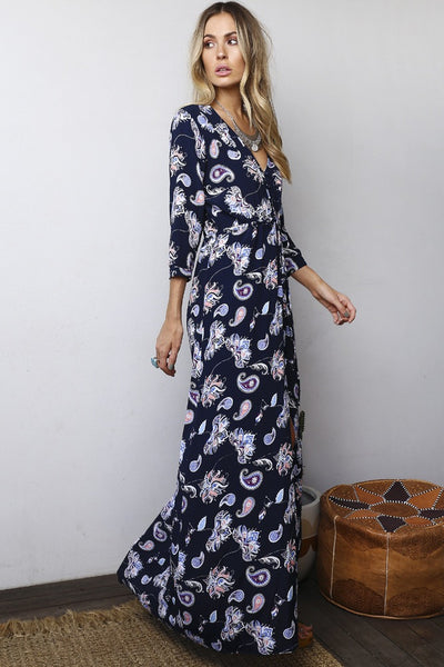 Mazel Folk Maxi Dress