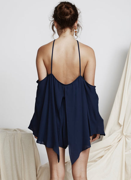 Private Show Playsuit - Navy