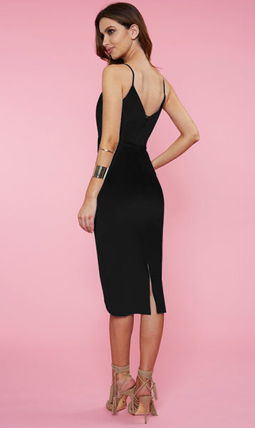 Alana Midi Dress - Black