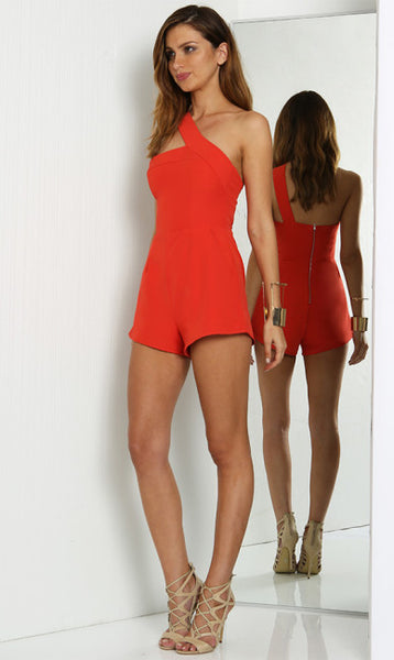 One Night Playsuit - Red