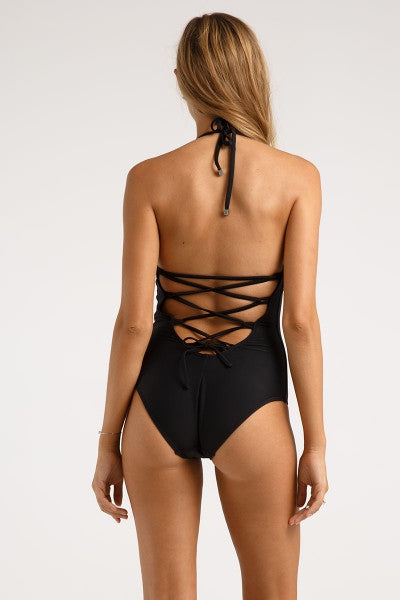 Lace Back One Piece