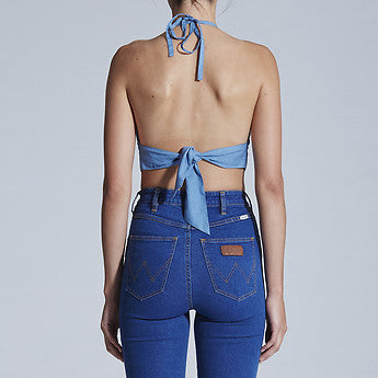 Penny Lane Halter - Chambray Blue