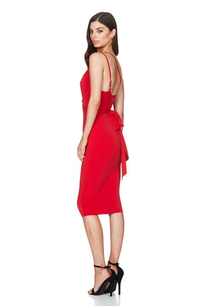 Xena Midi Dress - Cherry