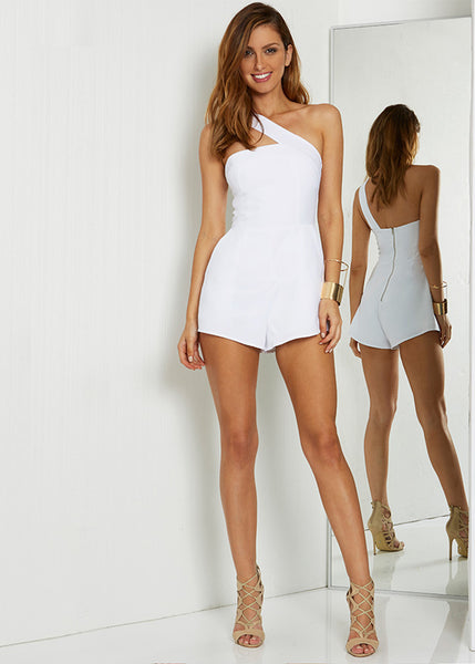 One Night Playsuit - White