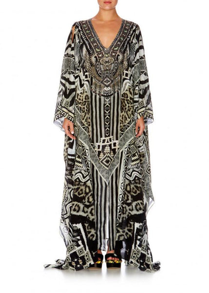 TRIBAL THEORY SPLIT FRONT & SLEEVE KAFTAN