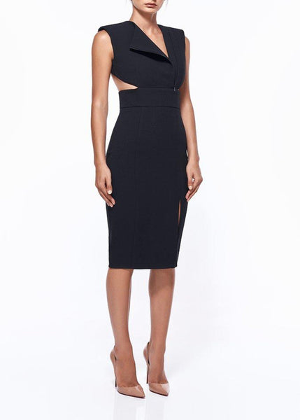 SUSANNA CUT-OUT MIDI DRESS