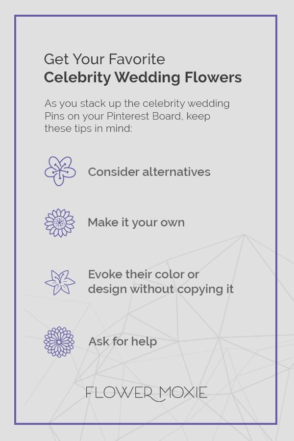 Tips for Getting Celebrity Wedding Flower Looks