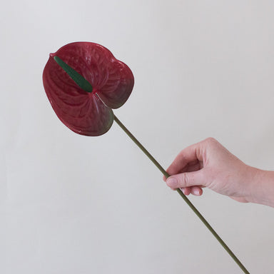 Faux Red Anthurium Tropical Wedding Flower