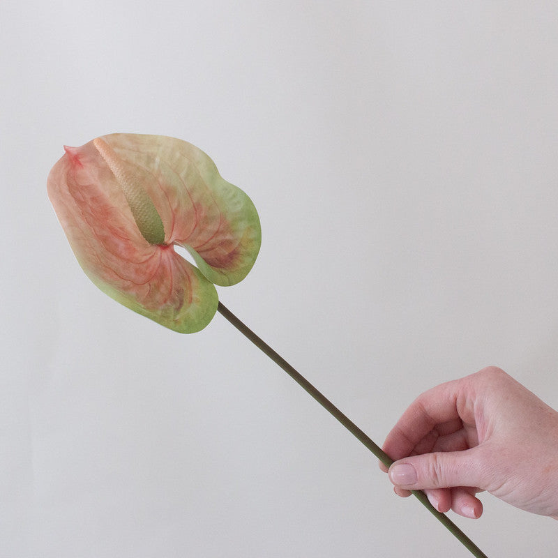 Faux Peach Anthurium Tropical Wedding Flower