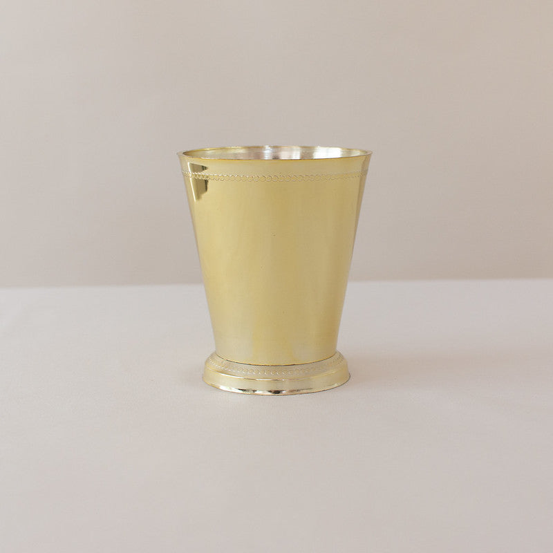 Gold Mint Julep Plastic Cups
