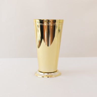Tall Gold 7'' Mint Julep Plastic Cups