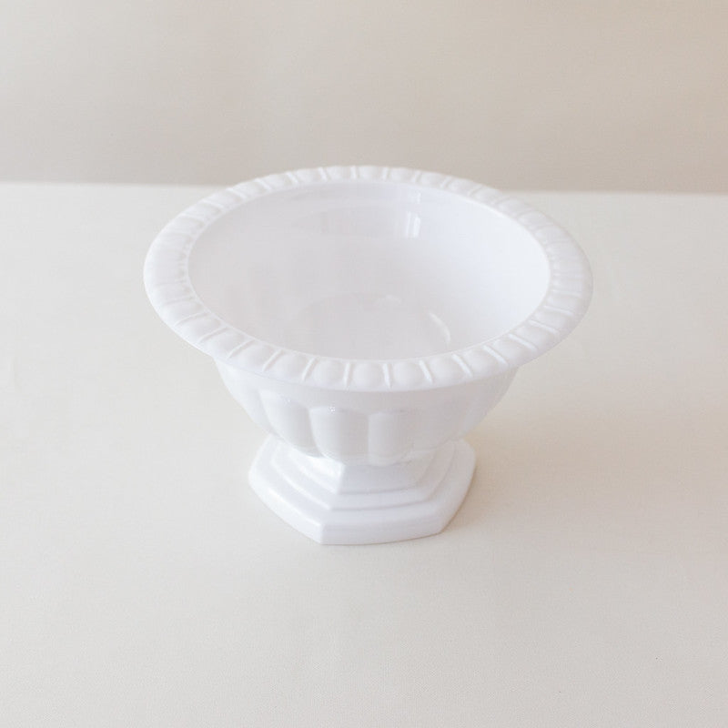 Traditional White Plastic Compote