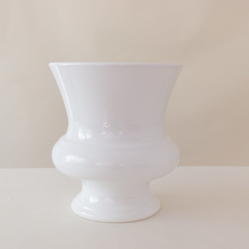 White Designer Resin Urn