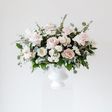 Blush and Cream Ceremony Wedding Flowers DIY by Flower Moxie