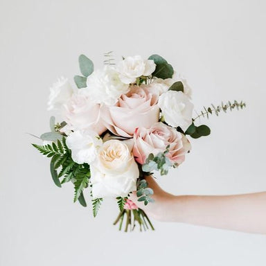 Blush and Cream DIY Bridal Bouquet by Flower Moxie
