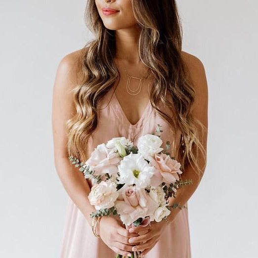 Blush an cream Bridesmaid Bouquet by Flower Moxie