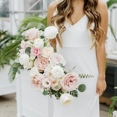 Blush and cream Bridesmaid Bouquet by Flower Moxie