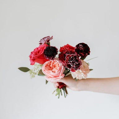 Raspberry Bridesmaid Bouquet DIY Wedding flowers
