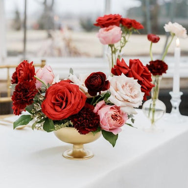 Red Currant DIY Wedding Centerpiece by Flower Moxie