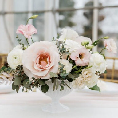 Blush and Cream DIY Centerpiece by Flower  Moxie