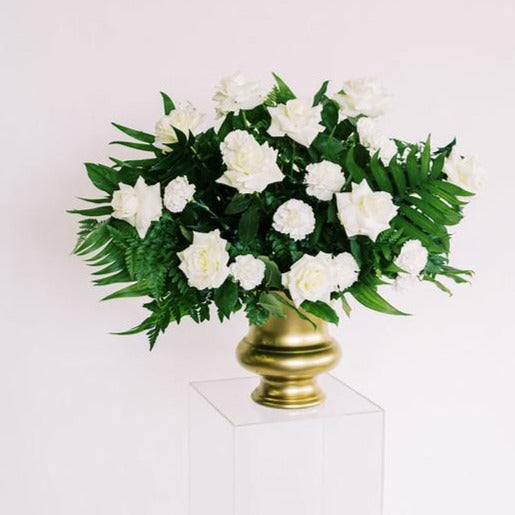 Emerald Green and Cream Ceremony Urn and Arch Flowers DIY Kits Flower Moxie