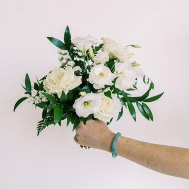 Emerald Green and Cream DIY Bridesmaid Bouquet Flower Moxie